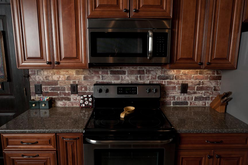 Brick Backsplash Vintage Brick Veneer Blog