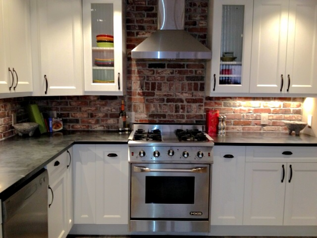 Vintage Brick Backsplash