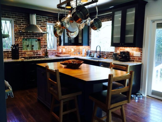 Kitchen Remodel with Brick Veneer