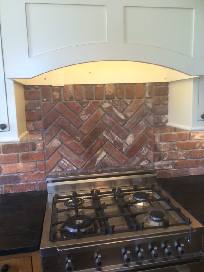 backsplash display vintage brick veneer blog