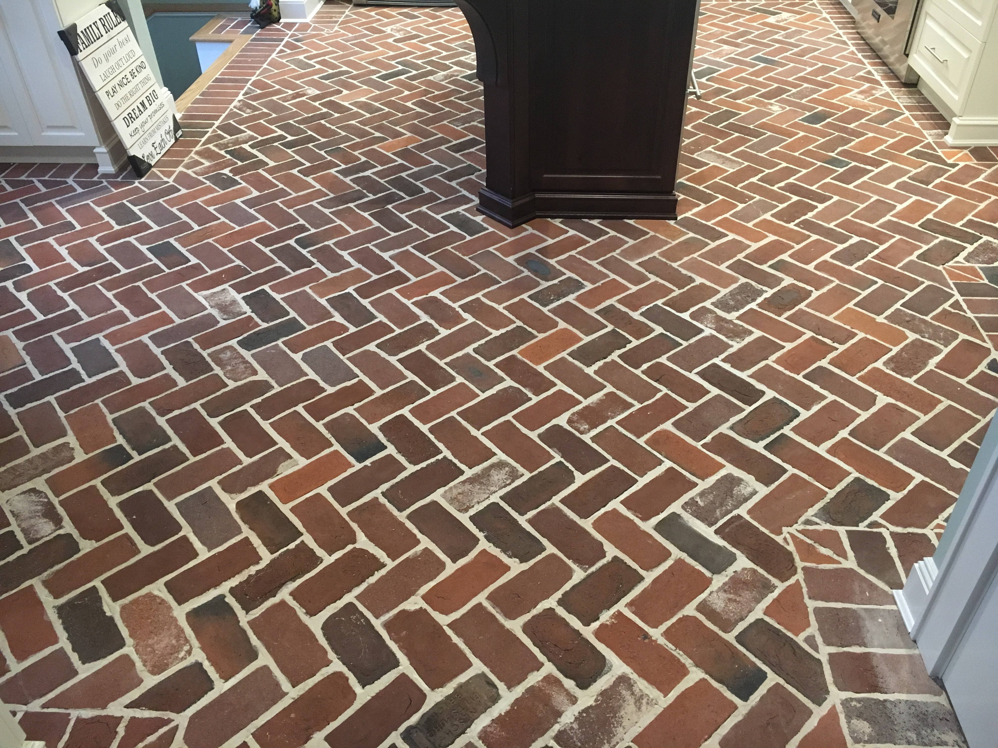 New brick veneer flooring vintage brick veneer blog for Brick veneer floor