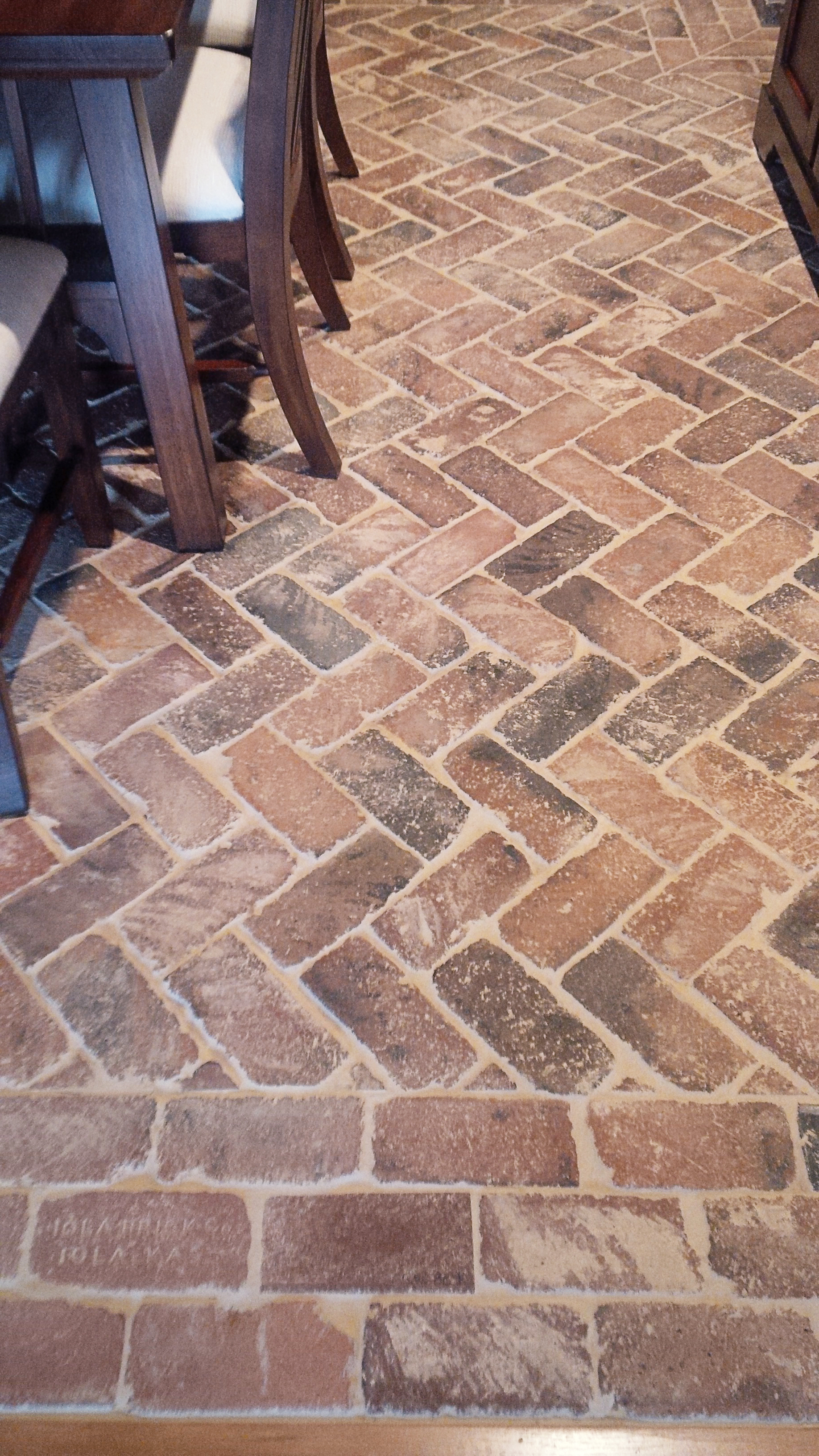 Brick Floor Herringbone Pattern Vintage Brick Veneer Blog