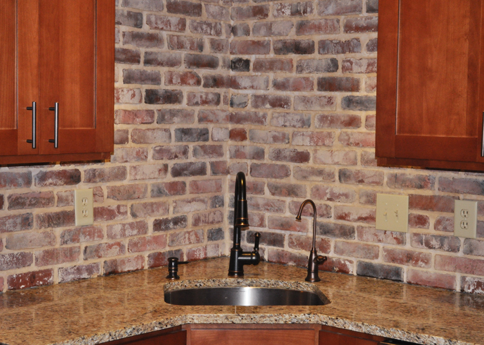 Unique kitchen backsplash pictures home design and decor for Modern brick veneer